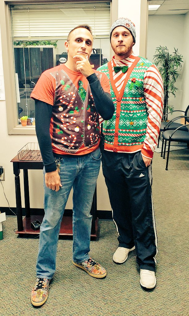 Tacky sweater Tuesday @MidwayES w/Coach/Cousin Spota #OneMidway