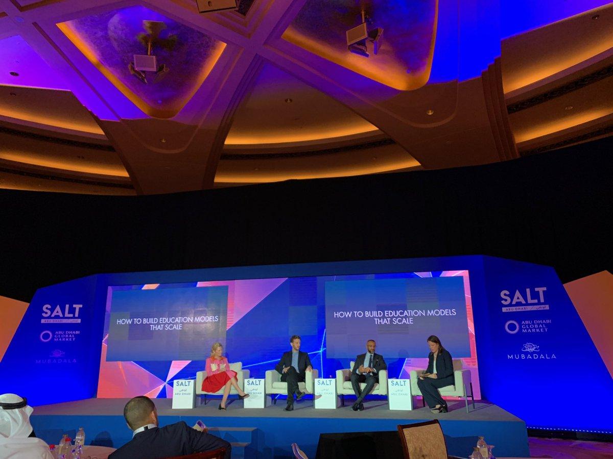 Wonderful to moderate a panel @SALTConference @ADGlobalMarket @EmiratesPalace on How to scale #education with @DinoVarkey @deborahquazzo @brighteyevc #edtech @NYUAbuDhabi