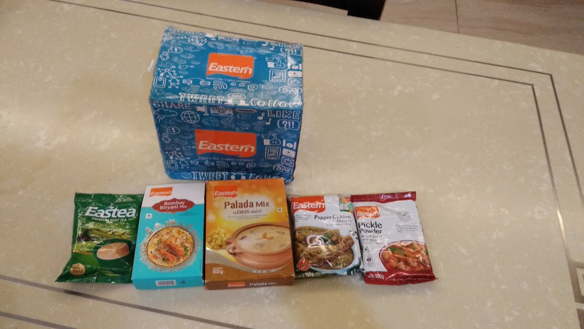 Received this awesome hamper from @eastern_in thanks to @india4contests for all the updates.. https://t.co/7mFgVrr53k