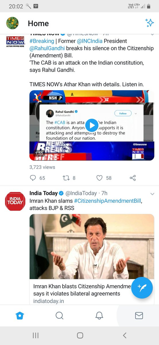 @RahulGandhi @INCIndia  and @ImranKhanPTI stand same on #CABBill   Nothing new for us....We had witnessed same thing after Balakot strike.  So #CABBill is good for India...Lock it.<br>http://pic.twitter.com/G0QjGAOvYf