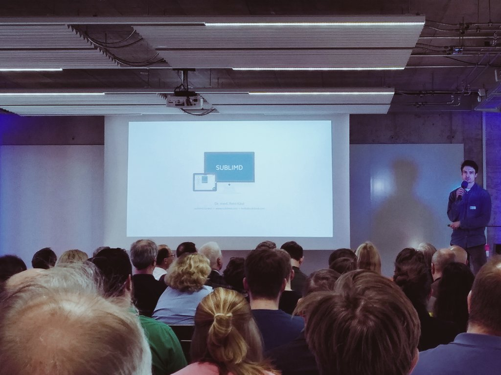 .@RetoKaul präsentiert @sublimd_com am @Roche #Startup Event in #Rotkreuz #digitalhealth #HealthTech #startups @StrtpCreasphere #sublimd #Switzerland #transforminghealthcaretogether https://t.co/U6befShXxc