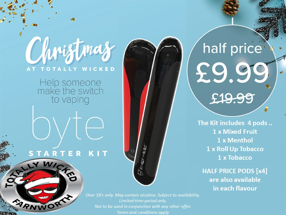 18+ Great little and simple device as a gift for the future ex smoker or as a handy back up ... all for less than a packet of cigarettes! Know what your vaping - Vape Totally Wicked #offer #vape '#podstyle #stopsmokingpic.twitter.com/pVRisL77ij
