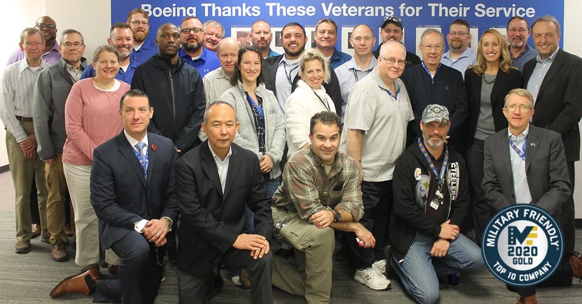 Thank you @Mil_Friendly, for recognizing our team with the 2020 Top 10 Military Friendly Company designation. With more than 20,000 veterans in our ranks, we know that #VeteransMakeUsBetter.  Find out how Boeing supports all those who serve: https://t.co/dzwgFo5WfU https://t.co/wSnZXqmTCI