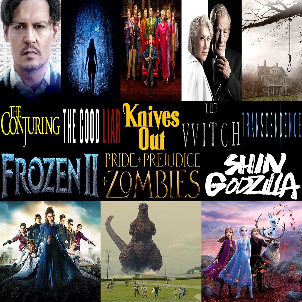 #ThisWeek in #Film, we discuss #FrozenII, #KnivesOut, #TheGoodLiar, #ShinGodzilla, #PrideAndPrejudiceAndZombies, #TheWitch, & #TheConjuring.  Click to listen -> http://thisweekinfilm.libsyn.com/week-140-frozen-ii-2019-knives-out-2019-the-good-liar-2019-shin-godzilla-2016-pride-and-prejudice-and-zombies-2016-the-witch-2015-the-conjuring-2013…  #podcast #podcasting #podernfamily #podcasts #filmpod #movie #frozen2 #godzilla #janeaustinpic.twitter.com/6yiuBdYmRP