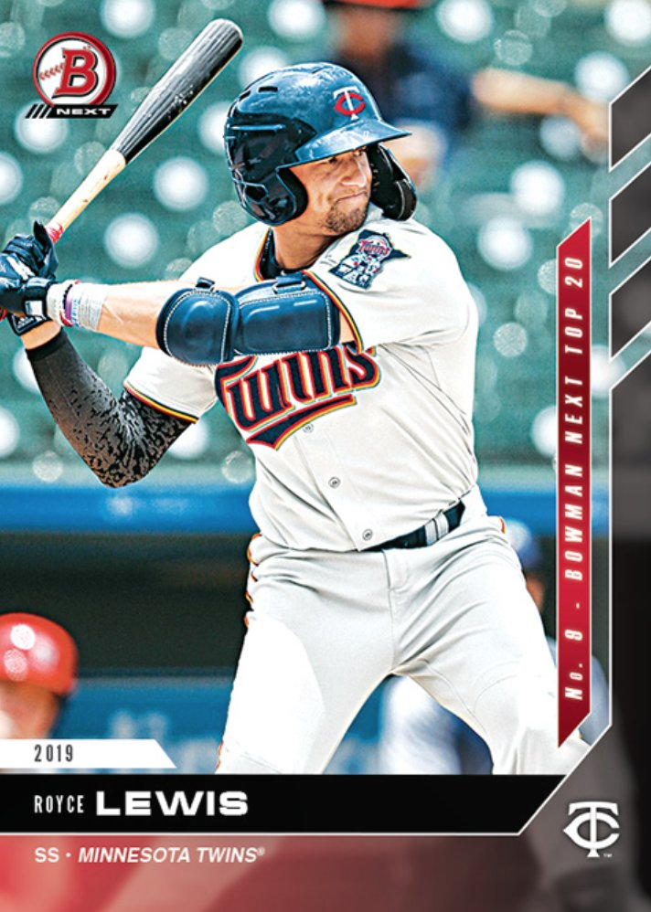 Our next... Bowman NEXT... is Royce Lewis! Lewis dominated the @MLBazFallLeague this year & slides into our Bowman NEXT Top 2020 Prospects at number 9! Collect each days Bowman NEXT card right here: ow.ly/toFW50xwDfh