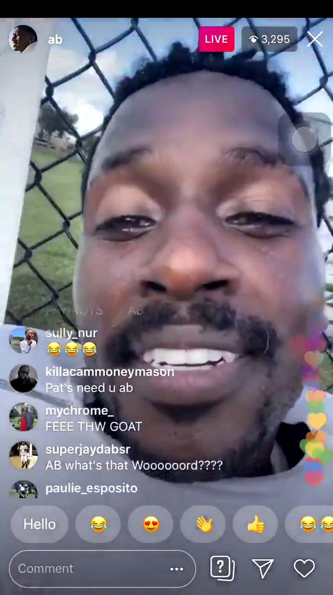 """AB went on IG Live and just repeated """"Free the GOAT"""" for over a minute"""