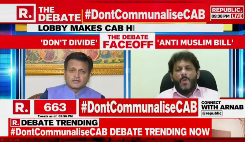 #DontCommunaliseCAB | Dr Ajay Alok and Waris Pathan engage in a heated confrontation on The Debate with Arnab; Tweet your views and watch #LIVE here - republicworld.com/livetv.html
