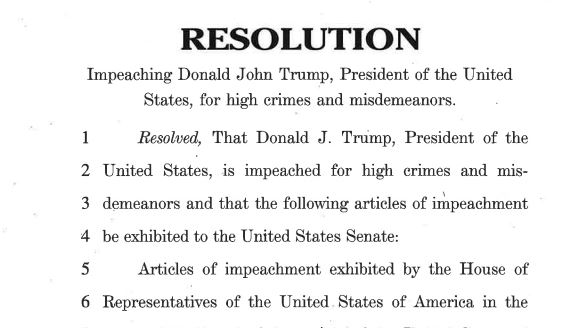 Read the Articles of Impeachment against President Donald Trump, released today by the House of Representatives. trb.tv/pvF5j