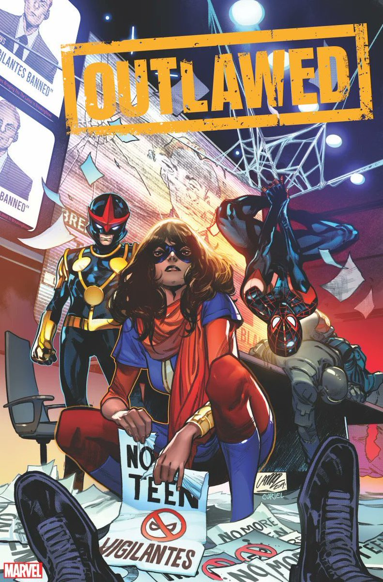 Eve Ewing will write a new Marvel comic series titled 'OUTLAWED' featuring Miles Morales, Ms Marvel and Nova. The comic will also have art by Kim Jacinto. (Source: @Marvel)<br>http://pic.twitter.com/A2it7voAe2