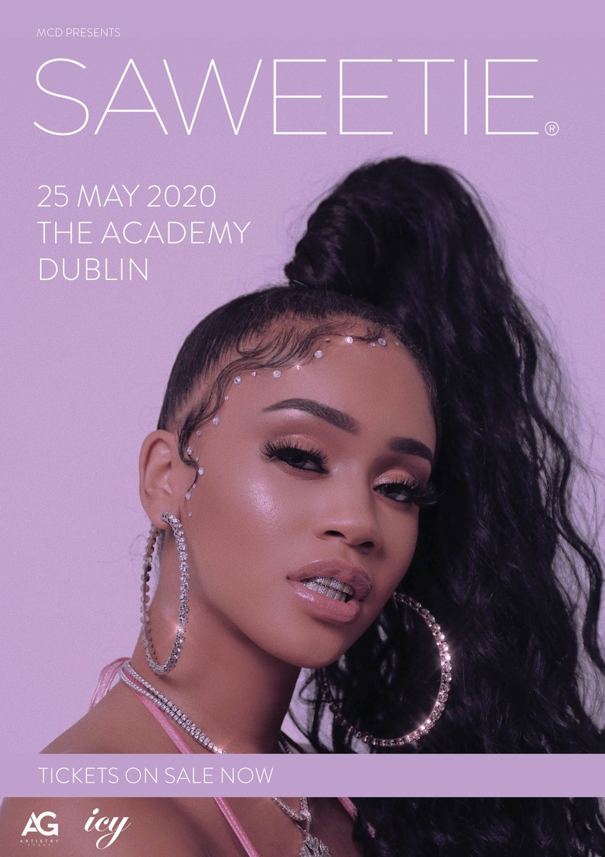 ON SALE NOW // Tickets to @Saweetie's show in the Academy on 25th May are on sale now from @TicketmasterIre