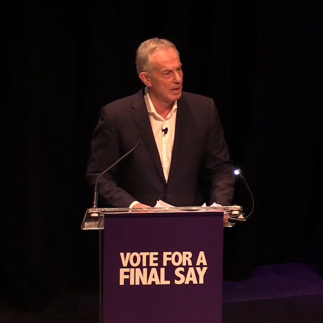 """Tony Blair: """"Before the country falls for the new promise, I ask it to recall the old promises… They promised £350m more every week for our health service & instead we have an NHS in crisis"""""""