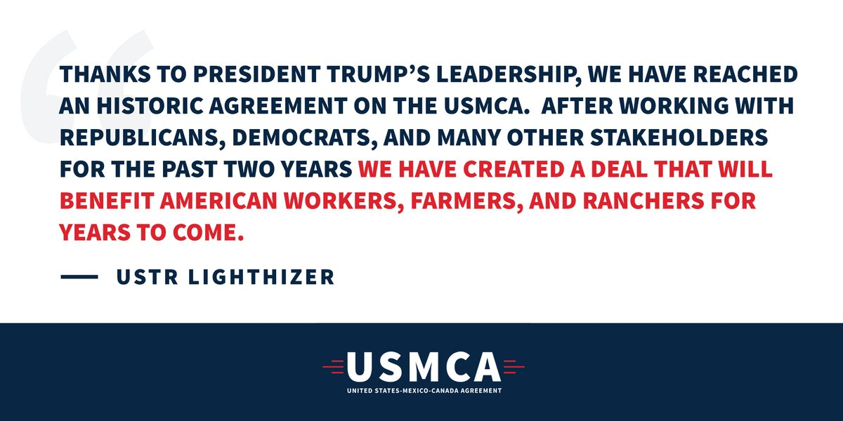 Statement from United States Trade Representative Robert Lighthizer   https://ustr.gov/about-us/policy-offices/press-office/press-releases/2019/december/statement-united-states-trade  …