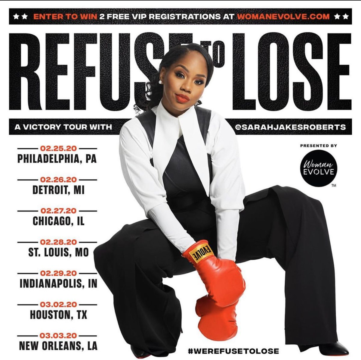 @womanevolve @SJakesRoberts My cousin on my mama side ☺️☺️ #MentorFromAfar I will be in the building #Chicago #ChiTown Your story hits home for me. I to was a mother at 15 now a #WorshipLeader son is a senior in college 💃🏾💃🏾💃🏾. I #ReFuseToLose https://t.co/keKBYzXFhy