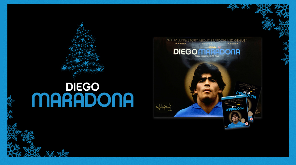 """""""Spellbinding"""" – TimeOut """"Mesmerising"""" – FourFourTwo """"Remarkable"""" – Esquire The ultimate gift - Altitude RT for a chance to #win our DIEGO MARADONA bundle 🇦🇷⚽️ #Advent #Competition"""