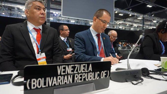 #EnFotos📸| #Venezuela participa en segmento de alto nivel de la Conferencia de las Naciones Unidas sobre Cambio Climático #COP25. Delegación encabezada por el Canciller @jaarreaza y @MiEcosocialismo Oswaldo Barbera participa en el debate para salvar al planeta #GobiernoDelPueblo