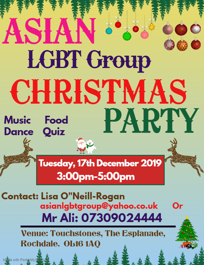 Join @asianlgbt1 for a special Christmas party with music, dance, a quiz and great food! If you identify as Asian and LGBT+, then come along to make new friends and celebrate the festive season 🎄❄️ 17th Dec at @Touchstones! bit.ly/2s9ITDH