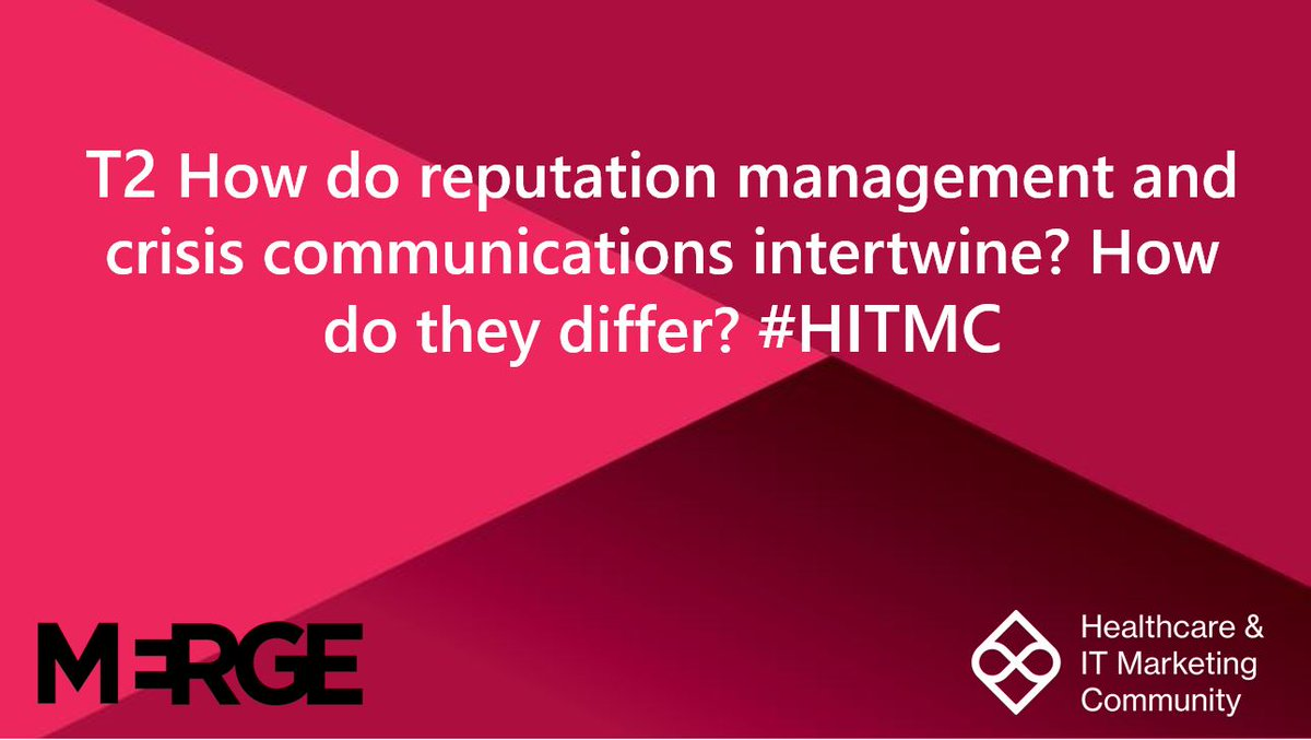Repeat T2  How do reputation management and crisis communications intertwine? How do they differ? #HITMC <br>http://pic.twitter.com/e3akyCL8so