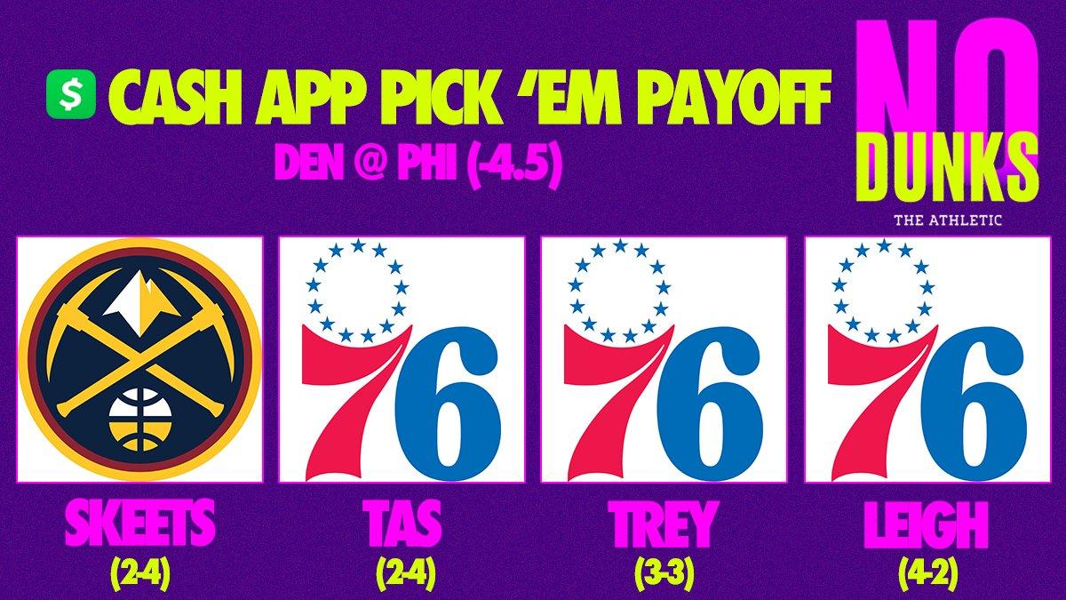 Tonights Pick Em game is DEN @ PHI (-4.5). Whatchu got? #NoDunks