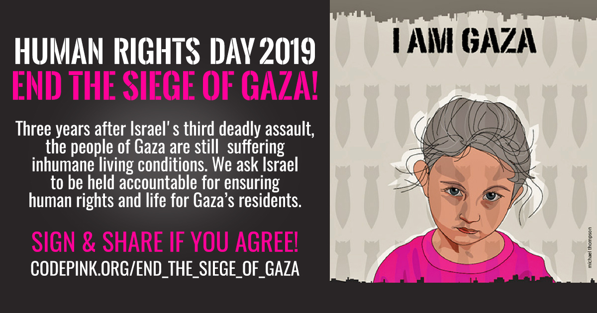 This #HumanRightsDay is the time to end the siege of #Gaza. The siege prevents access to natural resources, restricts freedom of movement, and has killed hundreds of civilians, including children, journalists & medical personnel. Sign our petition now >> bit.ly/2YyAe9U