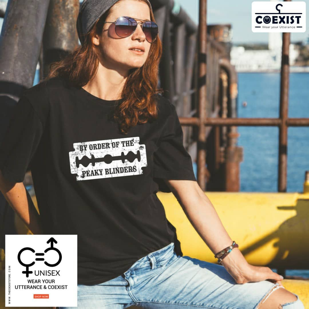 refreshing range of amazing unisex t-shirts by COEXIST premium quality material and trendy designs  #peakyblinders #thecoexiststore #coexist #tshirt  #sale  #offer #tvshow #tommyshelby #peakyblindersquotes #latestfashion #officalmerchandise  #tees #cotton #whitepic.twitter.com/U2QjFVEsCP