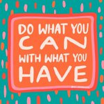 Image for the Tweet beginning: Do what you can, with