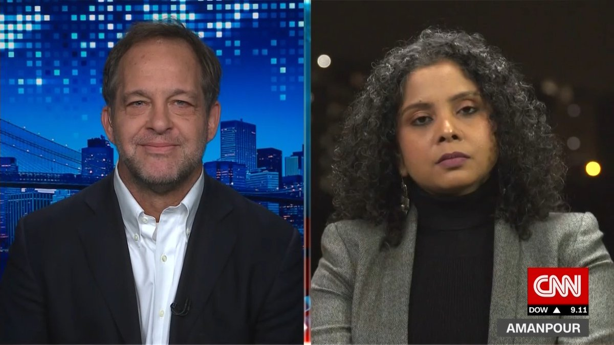 Image for the Tweet beginning: .@RanaAyyub and the @NewYorker's Dexter Filkins