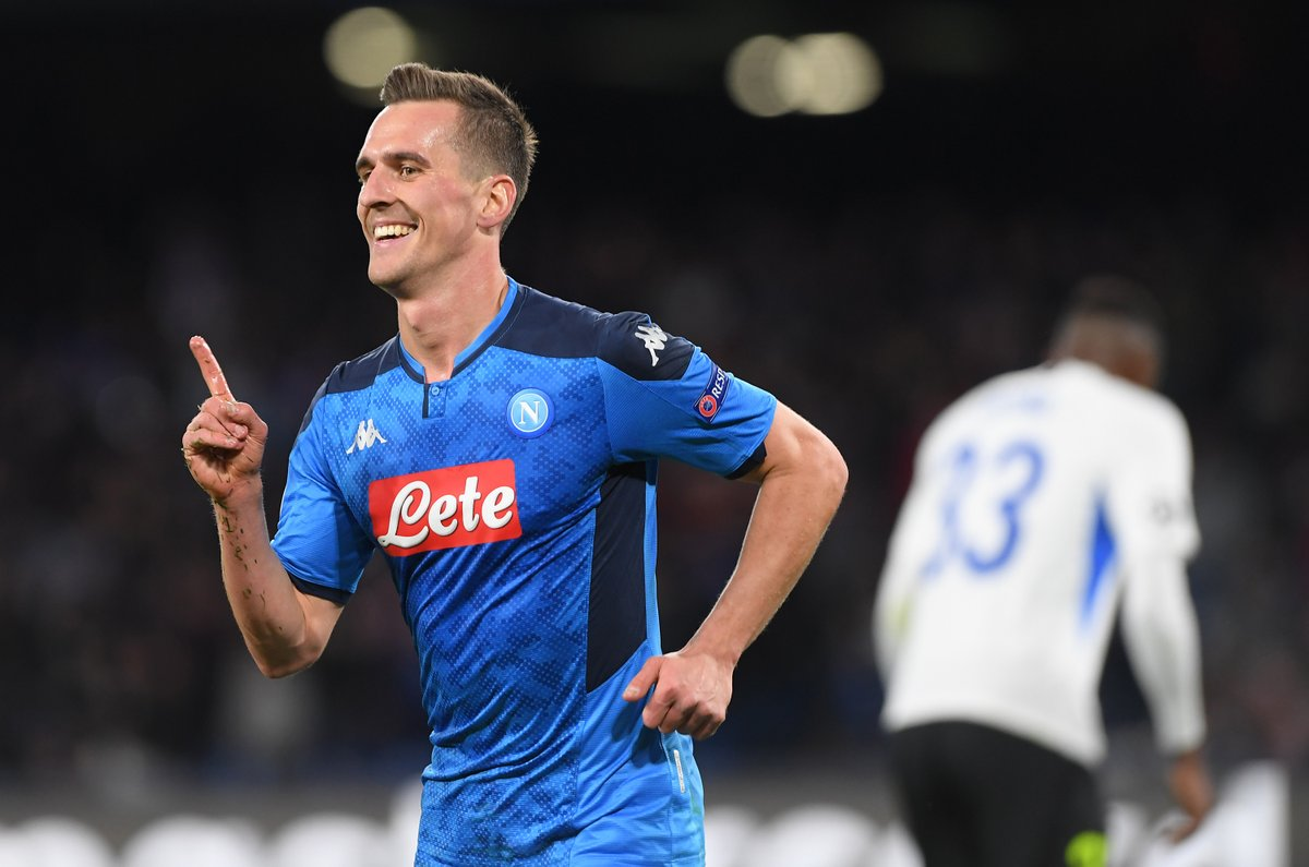 3' ⚽ 26' ⚽ 38' ⚽ Arek Milik scores the fastest #UCL hat trick from kickoff since Zlatan Ibrahimovic (Oct. 2013 vs Anderlecht) 🔥