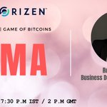 Image for the Tweet beginning: Join AMA with Horizen on