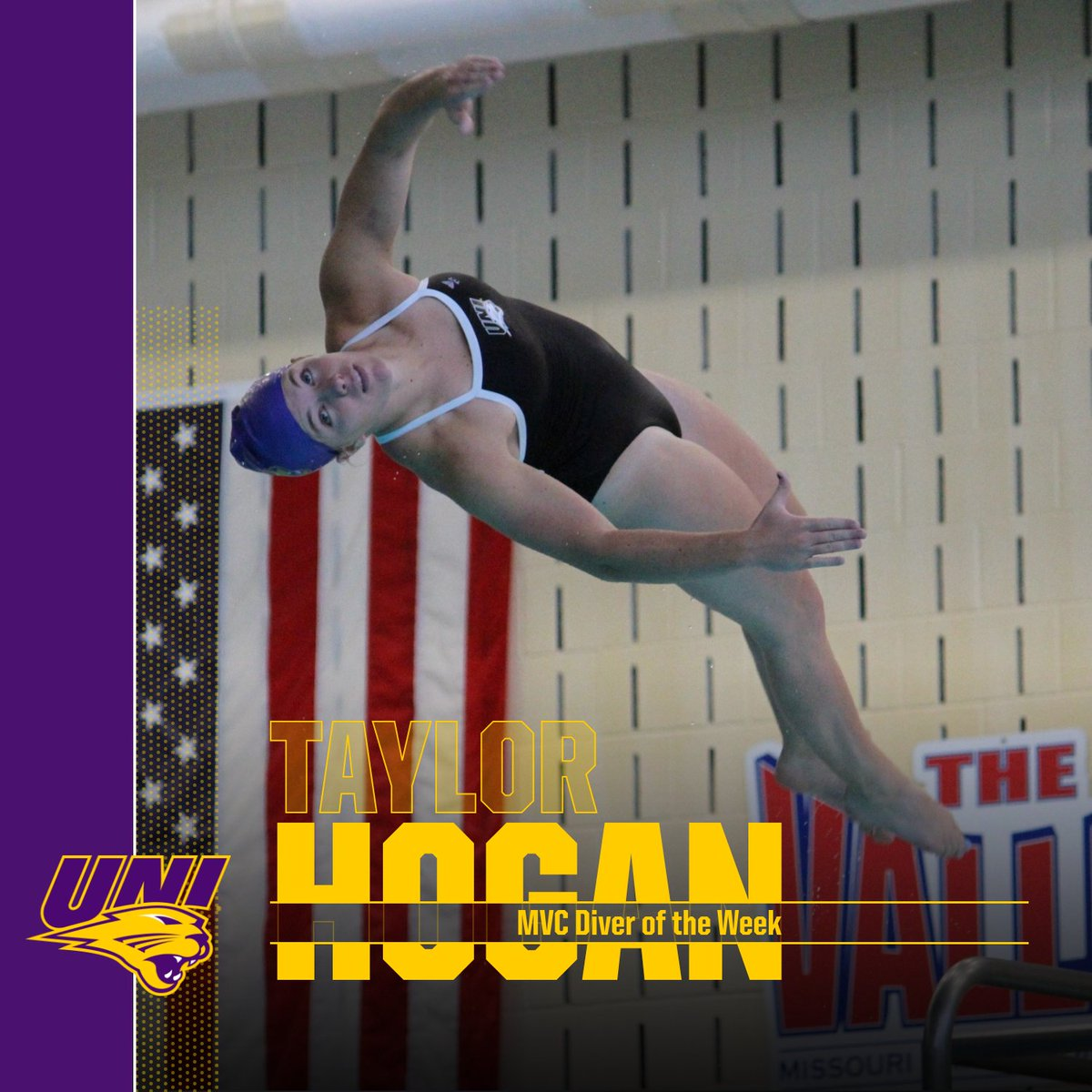 Congrats to Taylor Hogan on MVC Diver of the Week!  #UNIFight<br>http://pic.twitter.com/OSbbOzWb2p