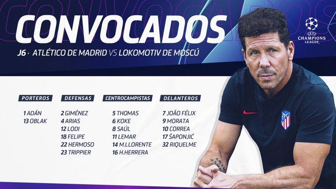 ELctdiJX0AExI72?format=jpg&name=small Simeone convoca a 19 jugadores para recibir al Leverkusen - Comunio-Biwenger