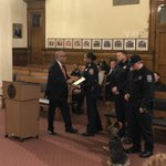 Image for the Tweet beginning: City leaders saluted Patrol Officers