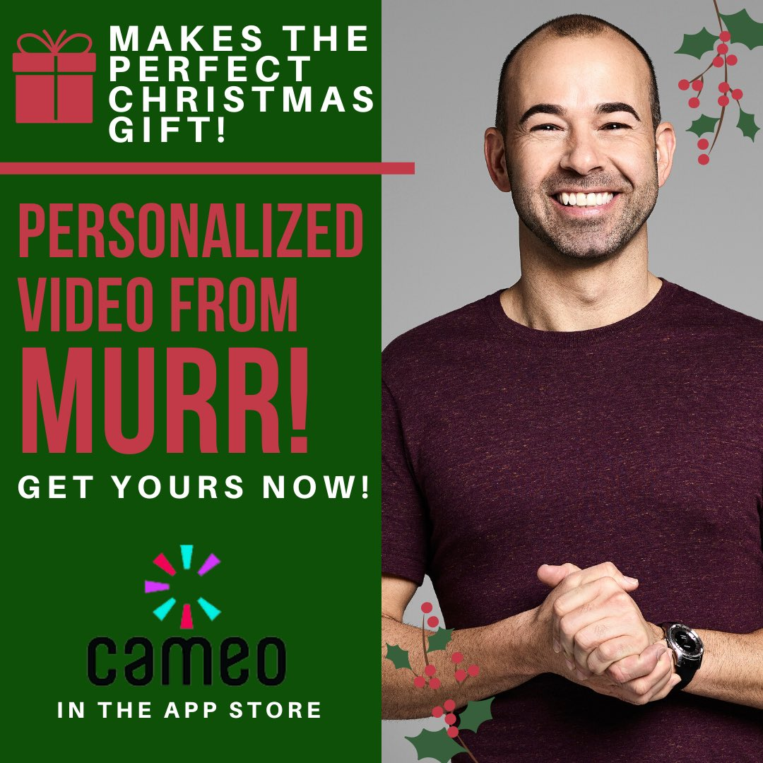 Want a personalized video from me for the family for the holidays / birthdays / anniversaries or more? Check it out here! https://www.cameo.com/therealmurr @BookCameo