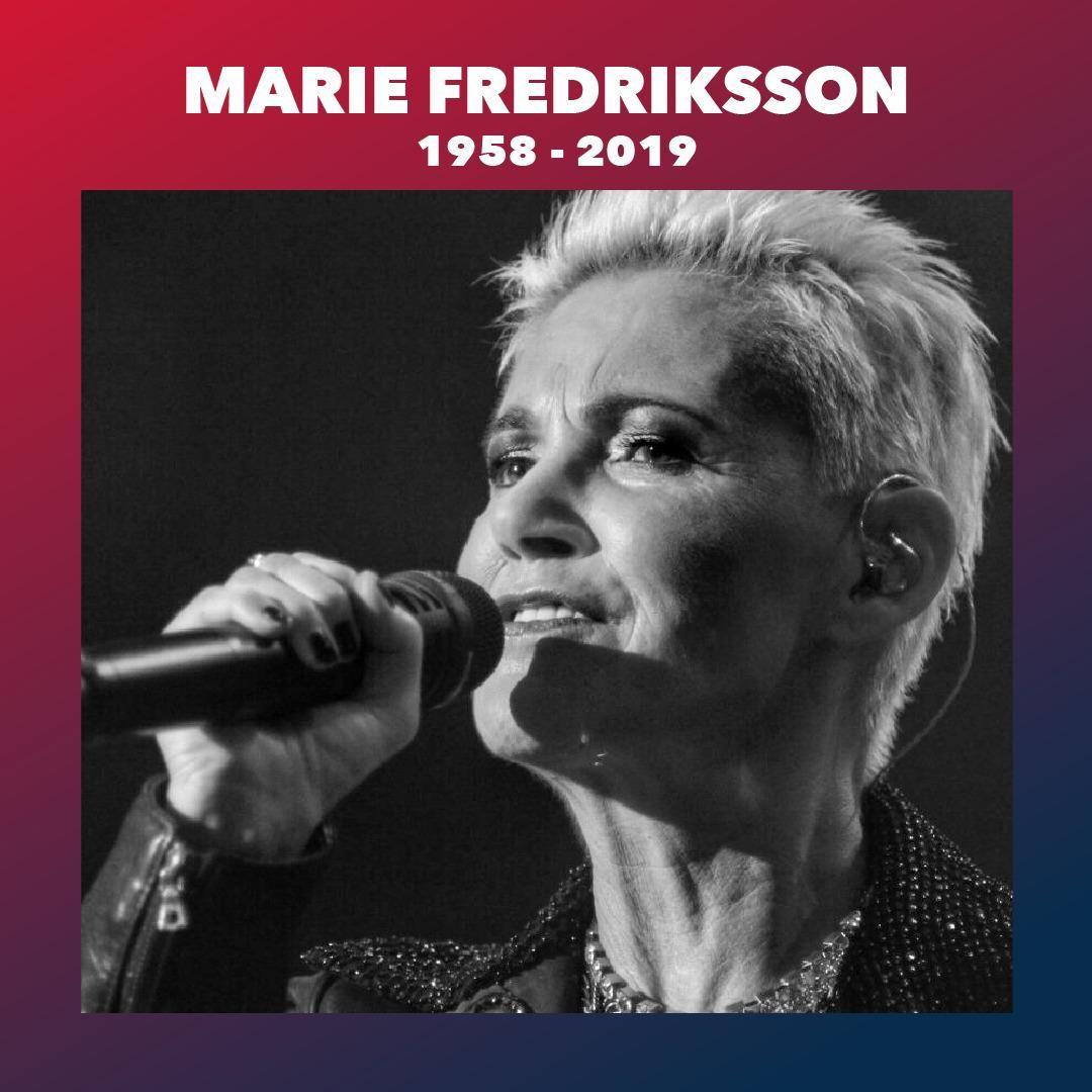 ¡Hasta siempre, Marie! Dichosos de haberte tenido en nuestra casa. #Roxette #MarieFredriksson