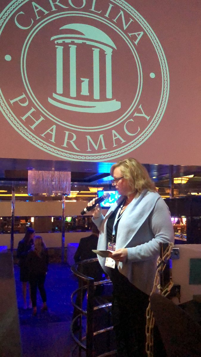 Dean @AKashubaUNC addressing the #UNCPharmacy crowd at last night's #ASHP19 Midyear reception. What a great night! https://t.co/ktG7ZxoUoa