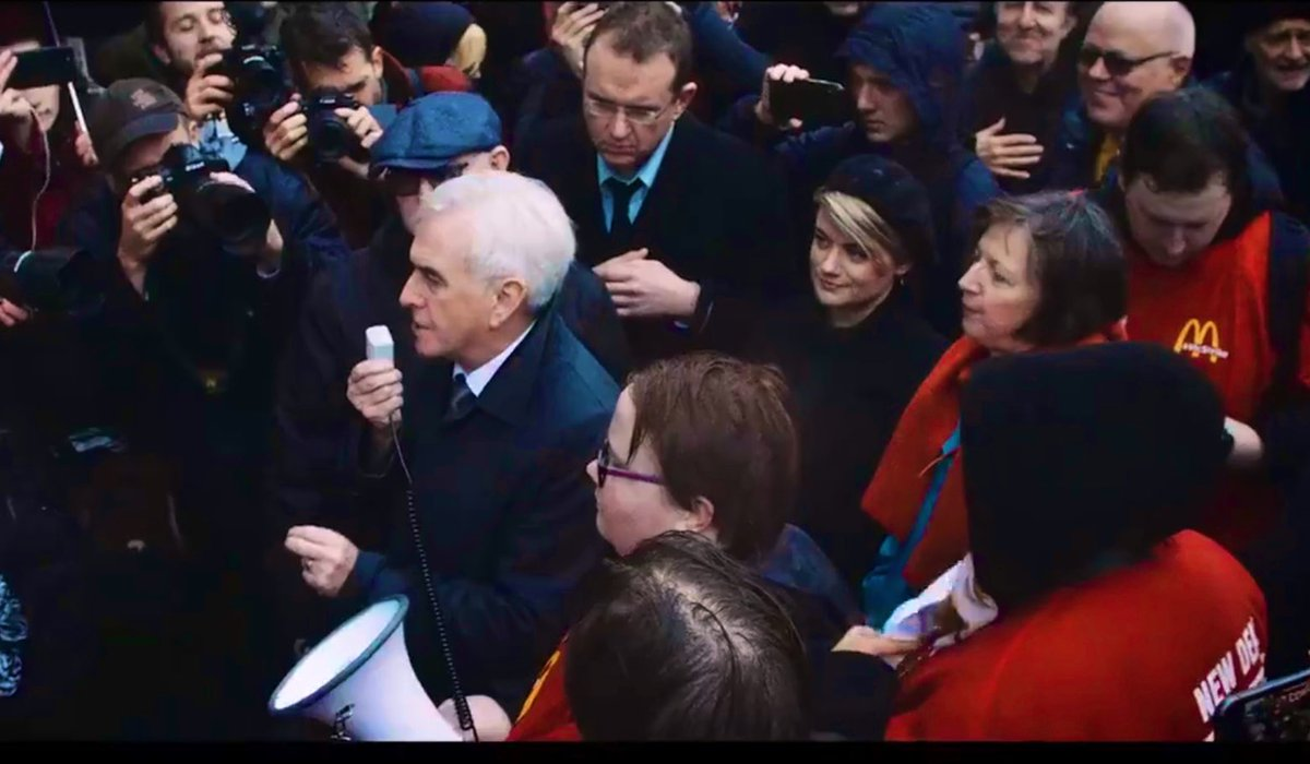 @SarahESeaton Also includes bonus footage of me looking adoringly at John McD as he speaks at a #McStrike strike rally.