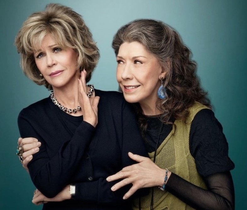 Replying to @onlxangelx: @GraceandFrankie Stared from                Know we The bottom                    Here