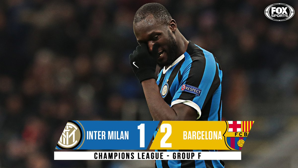 🚨Down go Inter!🚨 Barcelona run out winners at the San Siro as the Nerazzurri finish 3rd in Group F and bow out of the #UCL group stage in back-to-back seasons.