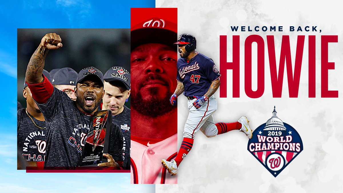 The World Series champion Washington Nationals have re-signed World Series champion and NLCS MVP Howie Kendrick.   🔗 // https://atmlb.com/36oXbzb