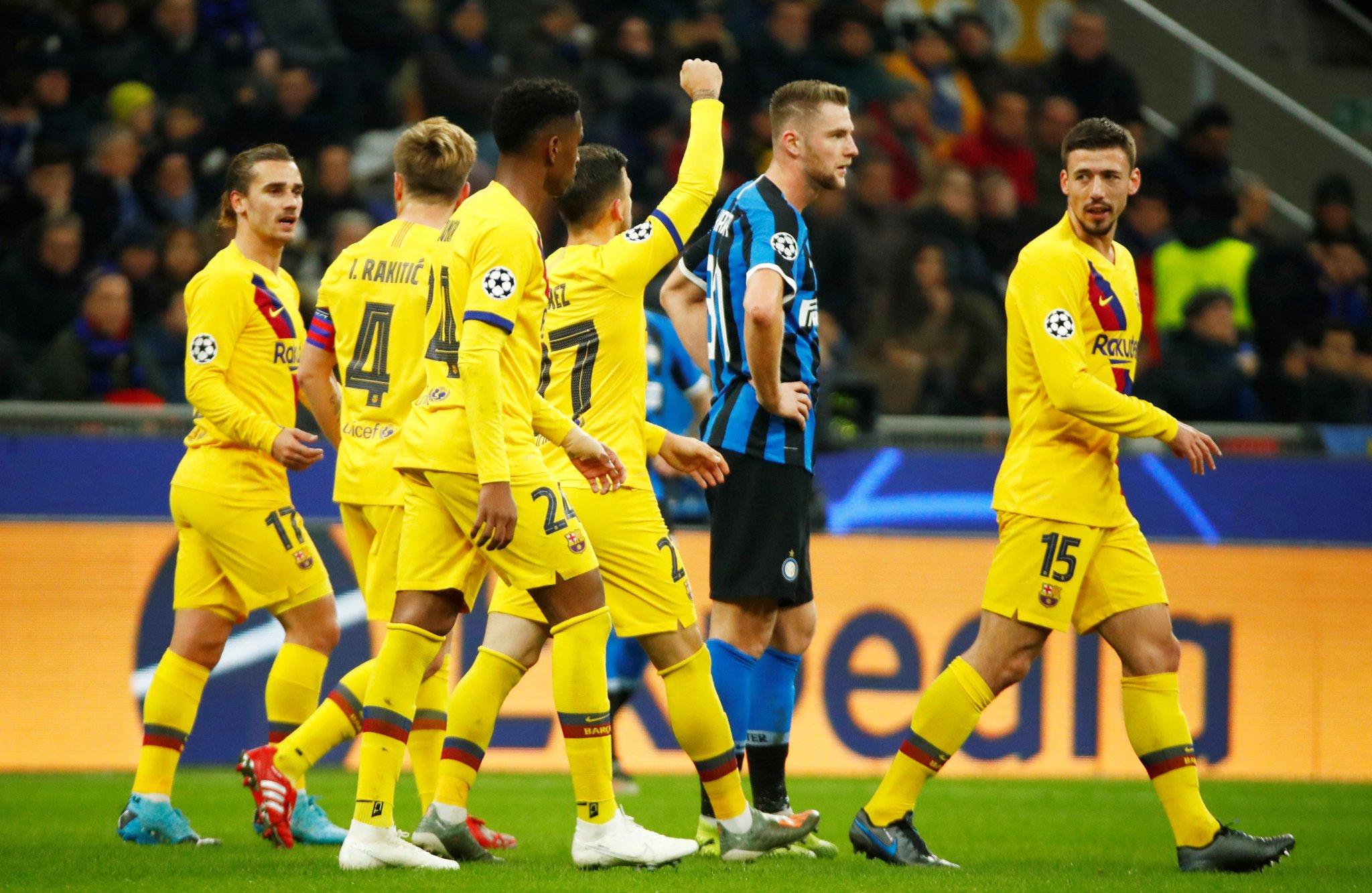 بدلاء برشلونة يقصون إنتر ميلان من دوري الأبطال وانسو فاتي يتالق