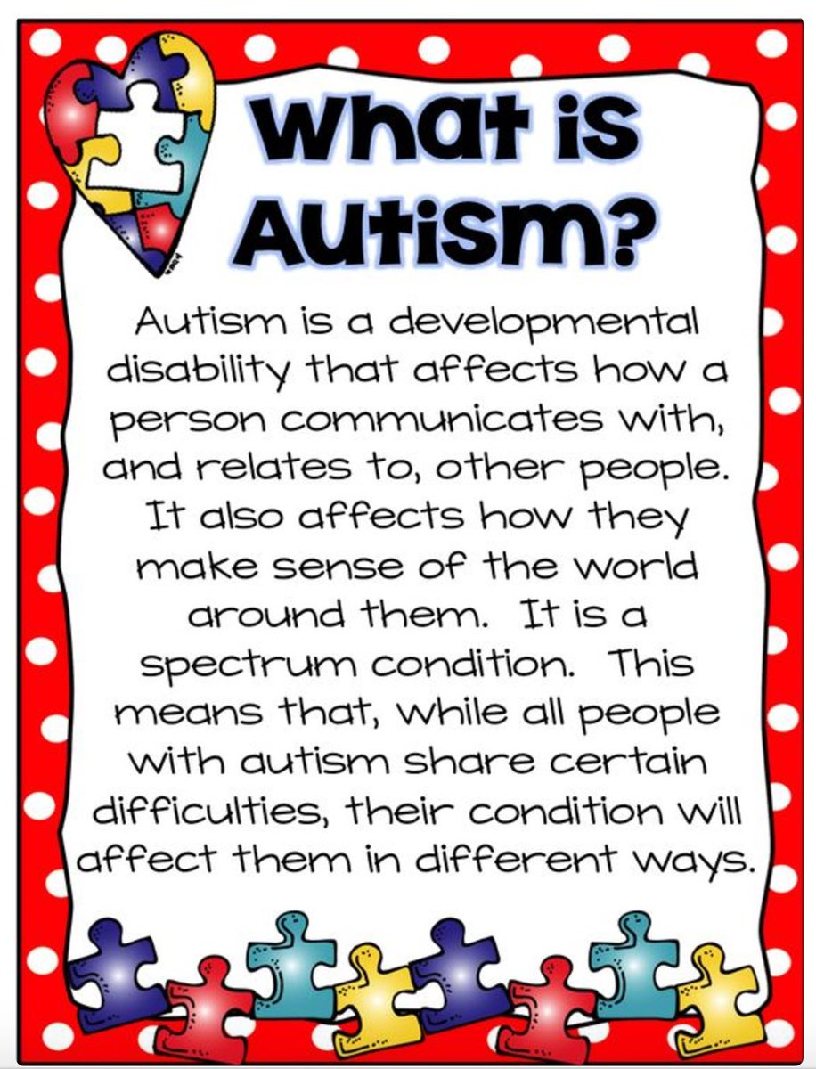RT @HollyRodFDN: FYI. Please RT  Because not everyone knows. #AutismAwareness ❤️ https://t.co/1aGV63xRen