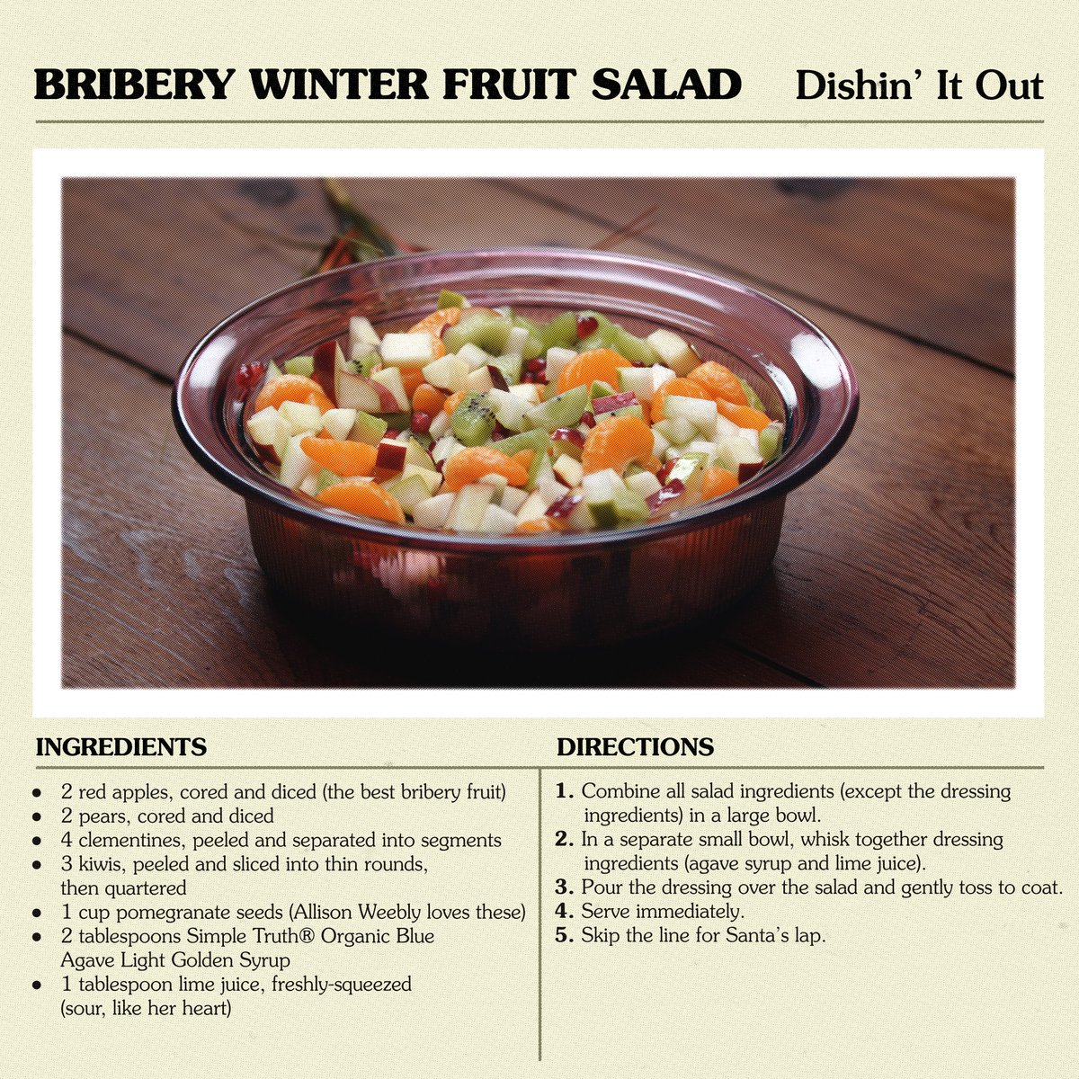 Want to get invited to a holiday party when everyone hates you? Bribe them with this fruit salad. @kroger #ad