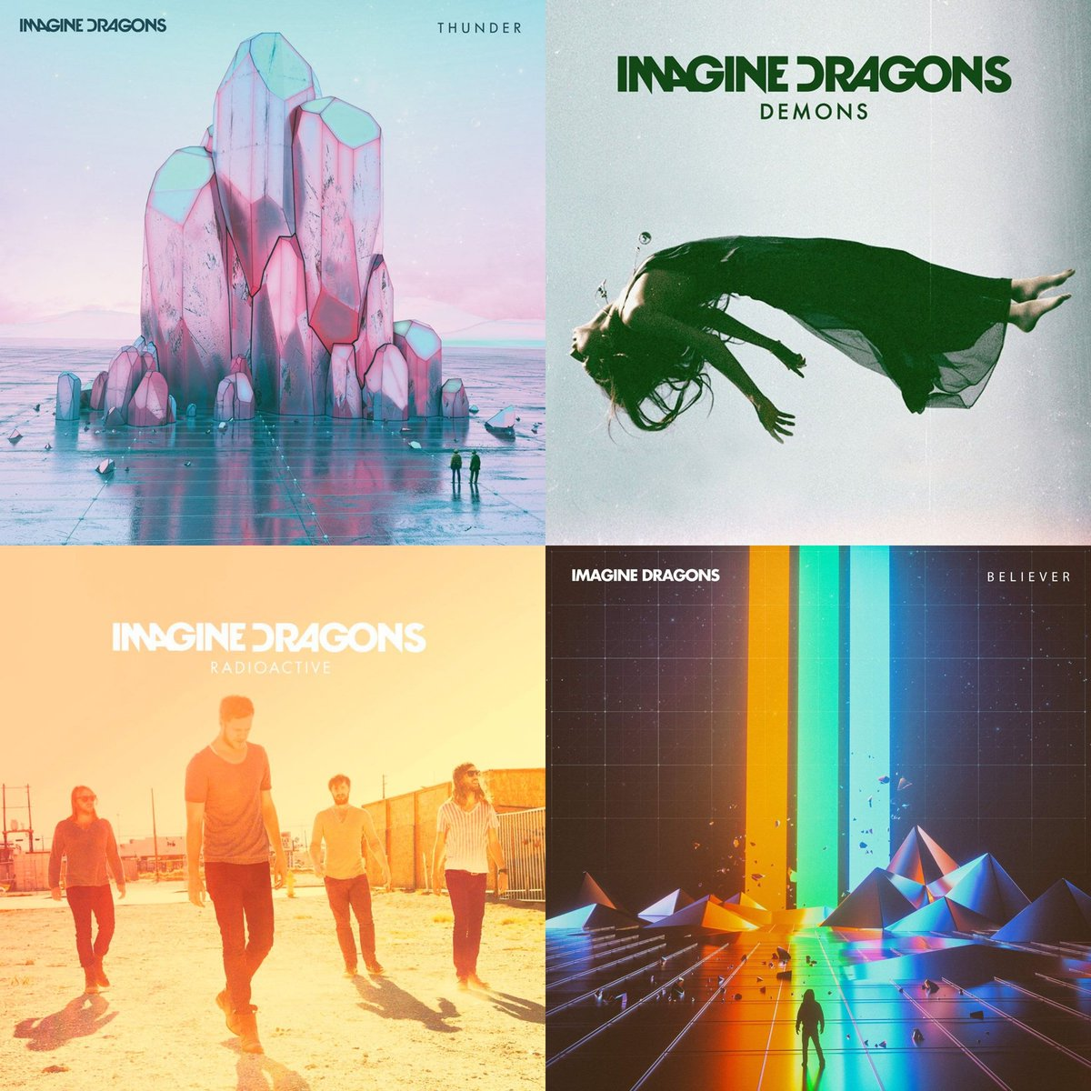 .@Imaginedragons becomes the first and only group to have 4 songs with over 900 MILLION streams on Spotify:  #1. Believer — 1.2B #2. Thunder — 1.1B #3. Radioactive — 955M #4. Demons — 900M <br>http://pic.twitter.com/xdXpmFAQ6n