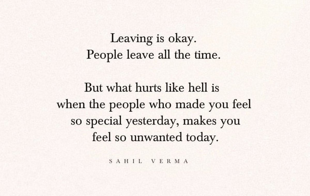 people leave all the time