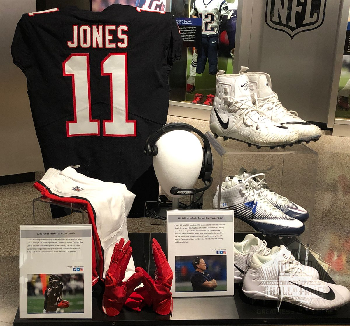 Pro Football Hall Of Fame On Twitter Now On Display In Canton The Jersey Juliojones 11 Wore When He Became The Fastest Player In Nfl History To Reach 11 000 Career Receiving Yards The