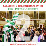 R.G. Wanek Center will be full of wonder! It's where you will find The Crafty Elf LEGO Workshop 🧱 and possibly bump into a Candy Cane Stilt Walker or two! ❤️💚 #HPUCommunityChristmas #HPUTraditions