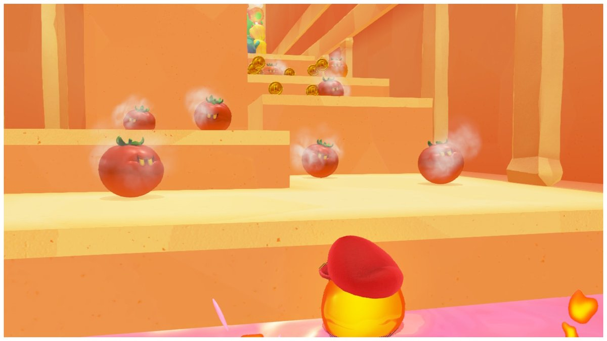 Tomates asesinos...is this a Jojo reference? #SuperMarioOdyssey #NintendoSwitch