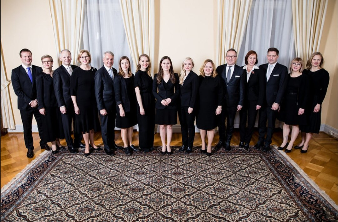 Finland's new cabinet. 10 women, 5 men. One day, it won't be remarkable.