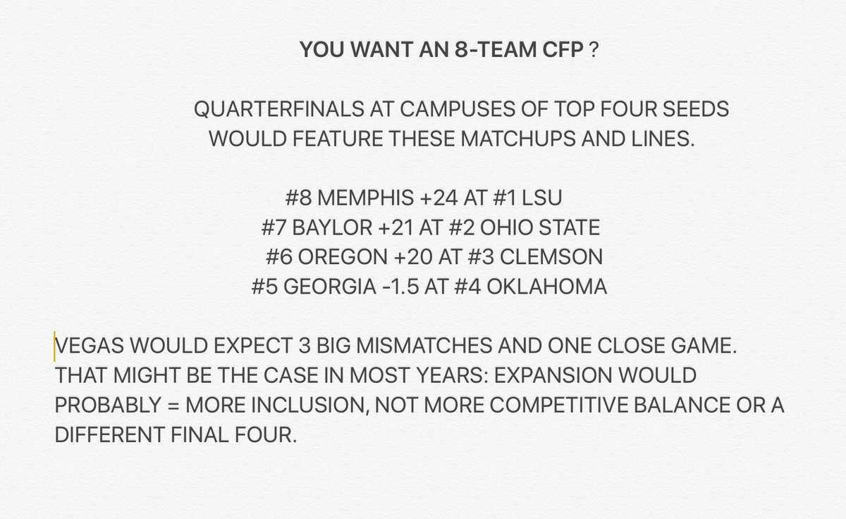 What An 8-Team College Football Playoff Would Look Like