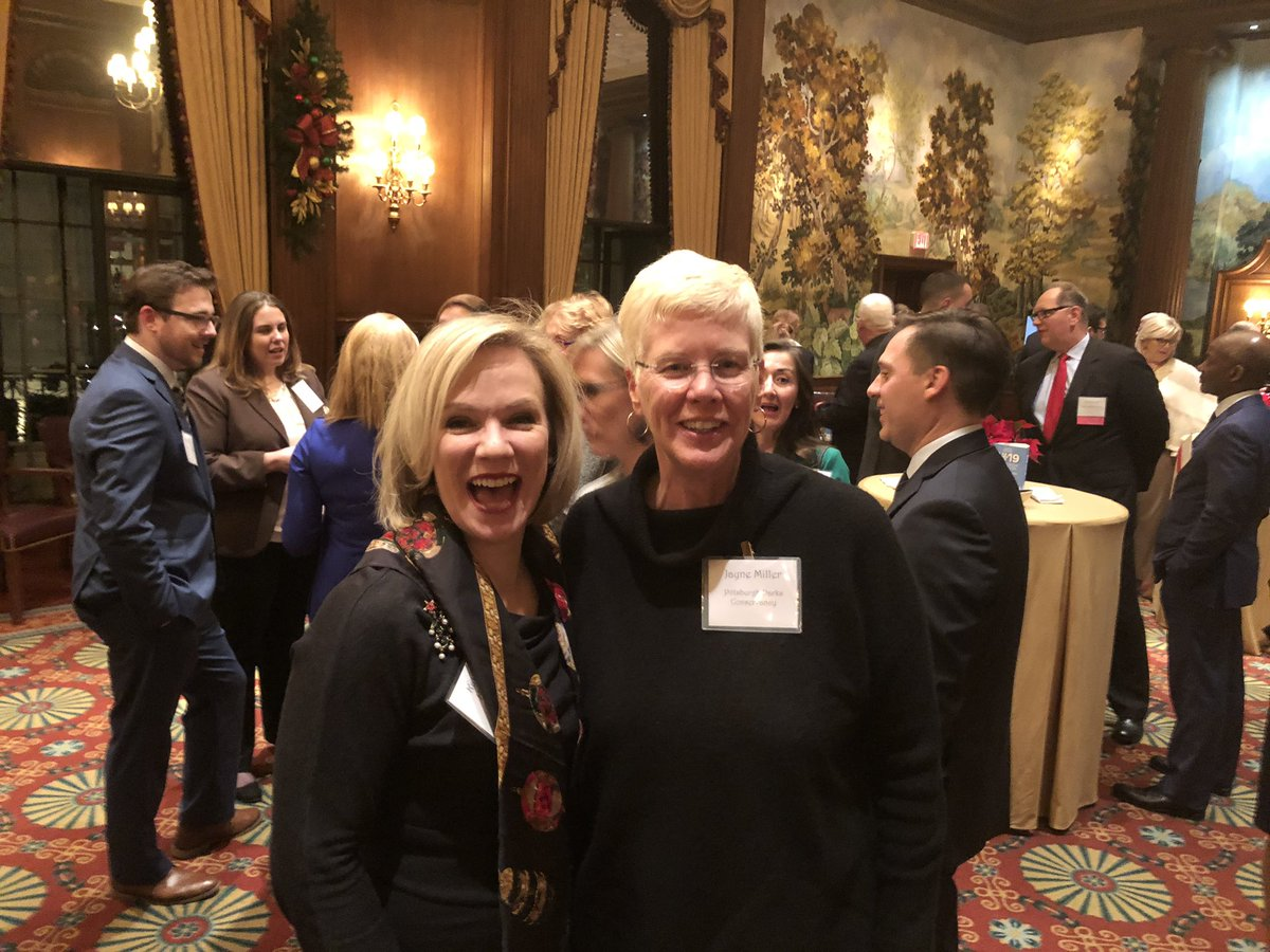 Two of our great #Pittsburgh leaders! @ms_eagan and @jayneburghparks. Great to see you at the #GPghCCReception