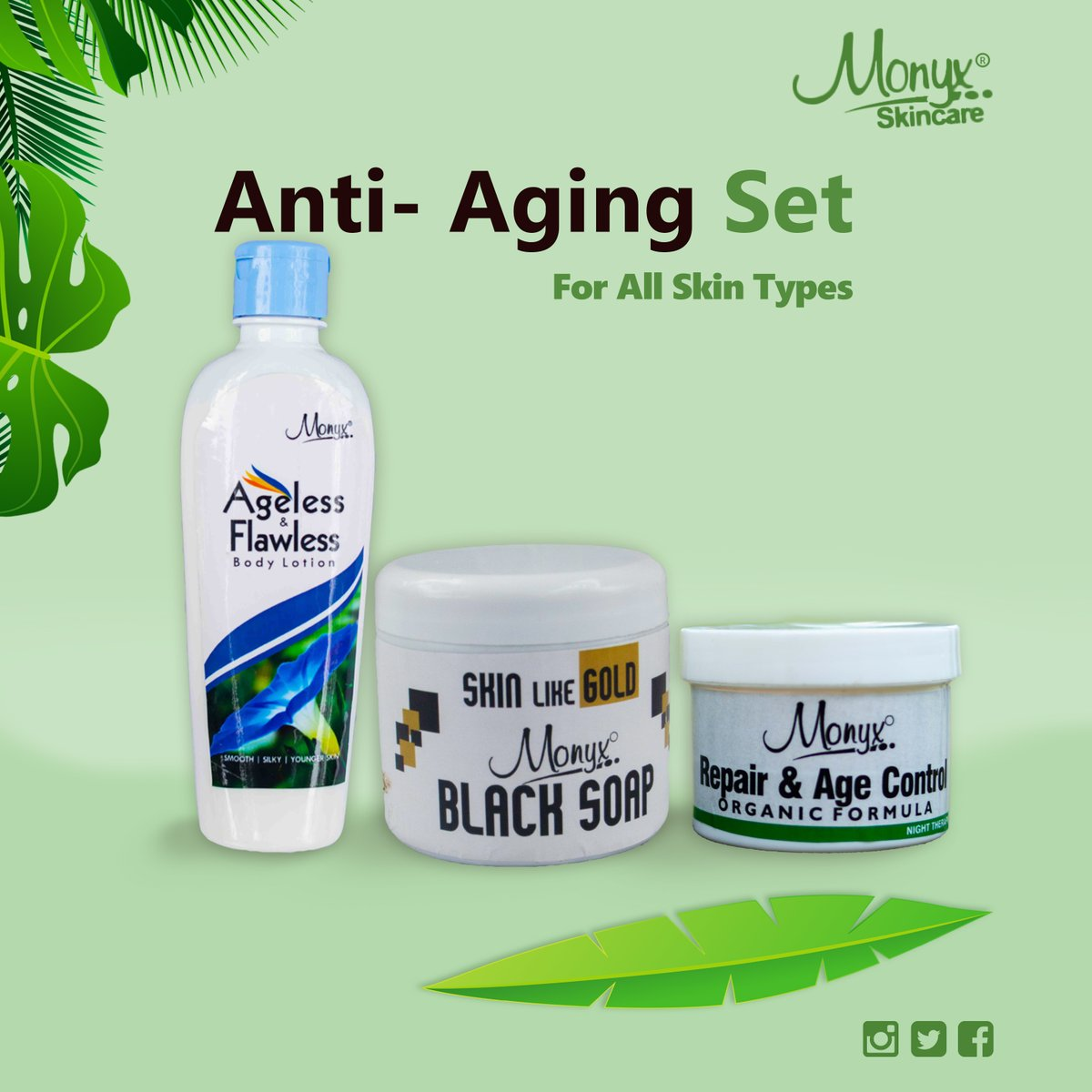 The functional anti- aging set Get and maintain your ageless, flawless glowing skin as The years go by